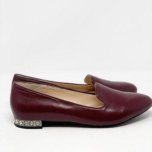 Modern Vice Essex Leather Jeweled Crystal Heels